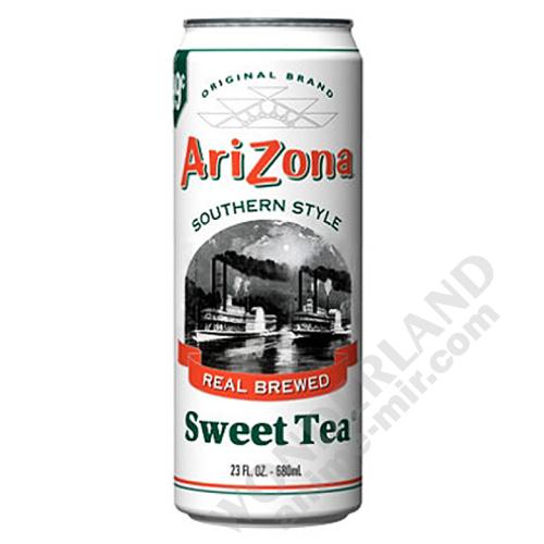 Чай Аризона Southern style (черный сладкий) банка 0,68