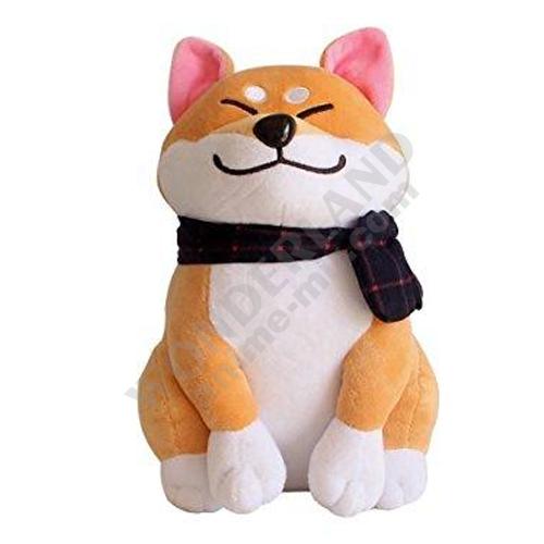 Плюшевая игрушка собака Акита два цвета (высота 55 см)