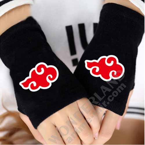 Аниме перчатки без пальцев Наруто Акацуке