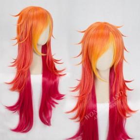 Косплей парик Мисс Фортуна Лига легенд рыже-красный 100 см