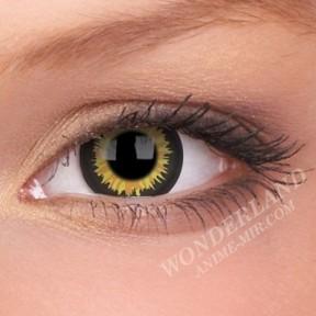 Цветные Линзы (чёрно-жёлтые)