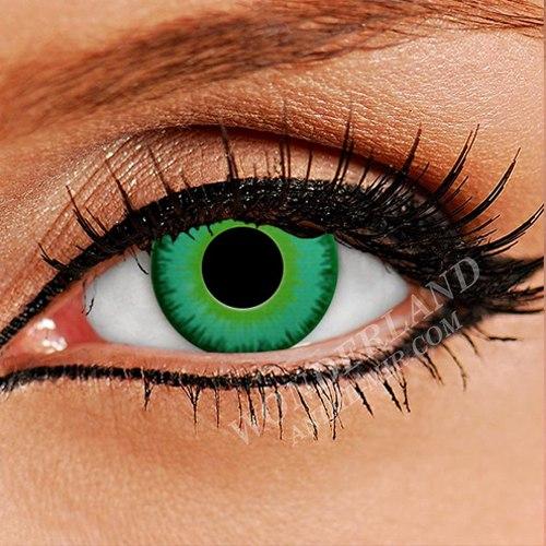 Цветные Линзы неоново-зеленые