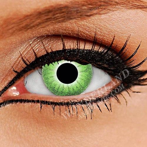 Цветные Линзы естественные, зелёные