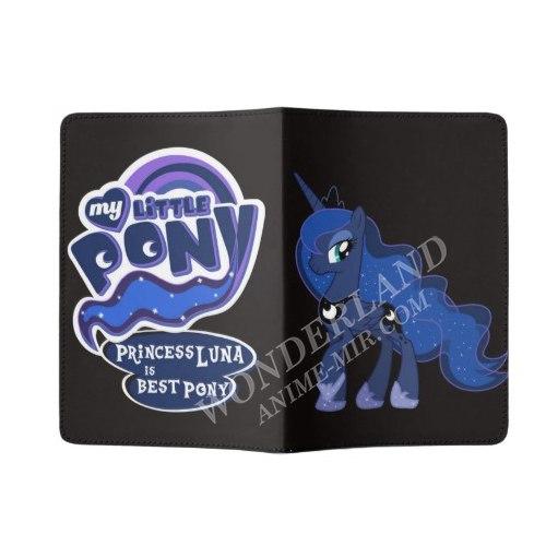 Обложка на паспорт Мой маленький пони (Луна)