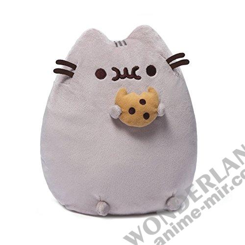 Плюшевая игрушка кот Пушин с печеньем (15см)