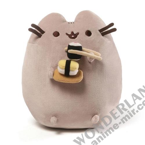 Плюшевая игрушка кот Пушин суши