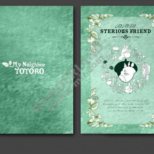 Аниме блокнот Мой сосед Тоторо в твёрдой обложке / My Neighbor Totoro