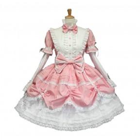 Косплей костюм Лолита (бело-розовый)