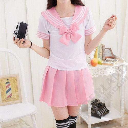 Японская школьная форма (розовая) (подходит для косплея Астольфо)