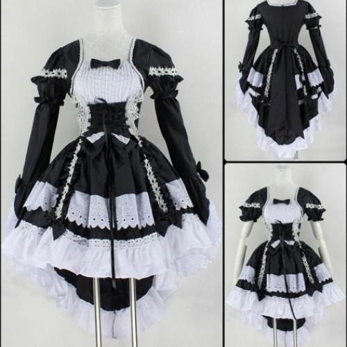 Косплей костюм Лолита(черно-белое платье)