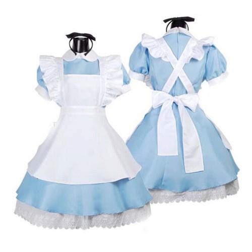 Косплей платье Алисы \ Алиса в стране чудес (классическое голубое)