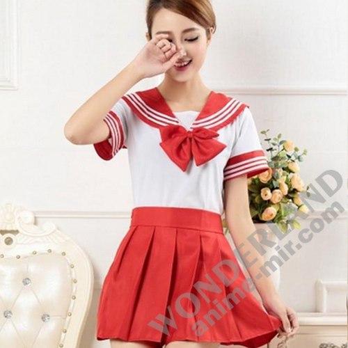 Японская школьная форма (красная)