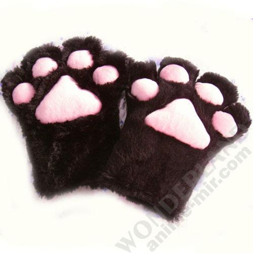 Неко лапки кошачьи черные (большие)