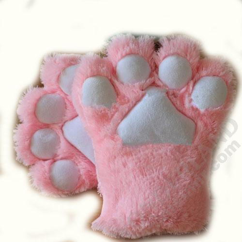 Неко лапки кошачьи розовые (большие)