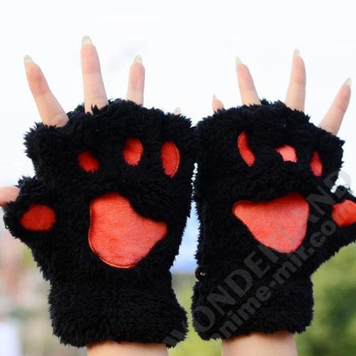 Неко лапки кошачьи черные (маленькие)