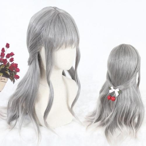 Косплей парик серый 50 см