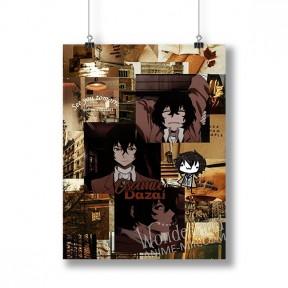 Плакат Бродячие псы (Дазай Осаму)