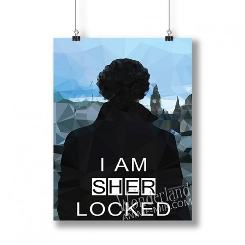 Плакат Шерлок (I am SHER locked)