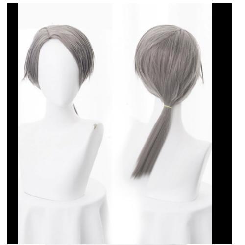Косплей парик серый (с хвостиком)