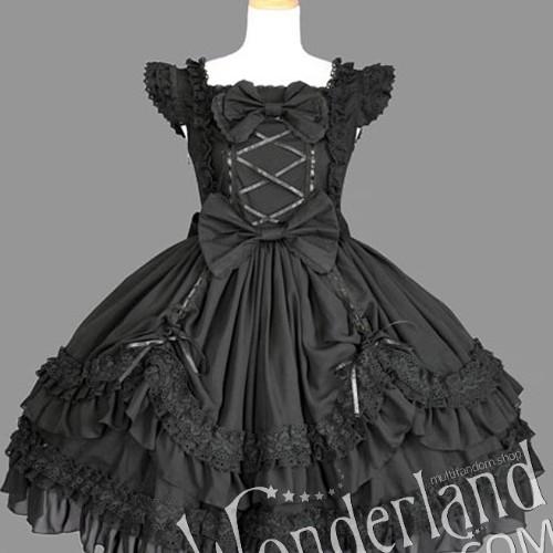 Косплей лолитное костюм-платье (черное)