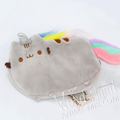 Плюшевый пенал кот Пушин единорог