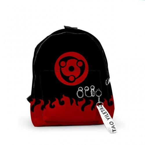 Аниме рюкзак Наруто черно-красный Шаринган Мадары (средний)