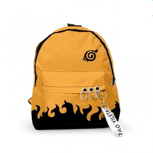 Аниме рюкзак Наруто черно-желтый Каноха (средний)