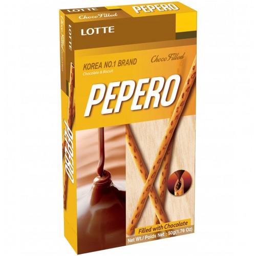 Палочки поки Пеперо (в глазури со вкусом шоколада  / Pocky Pepero Lotte White Cookie