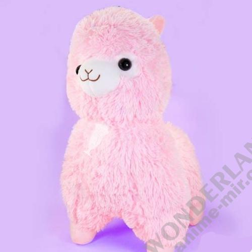 Плюшевая игрушка Альпака классическая (серия Фреш) розовая