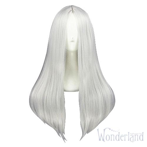 Косплей парик серебряный без чёлки 60см
