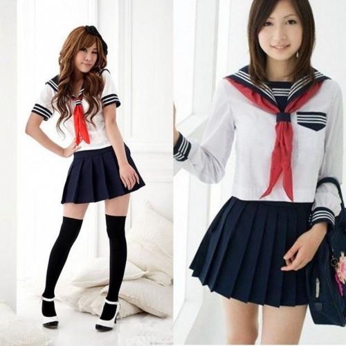 Косплей костюм японская школьная форма (белая премиум класса) (подходит для косплея Химико Тога)
